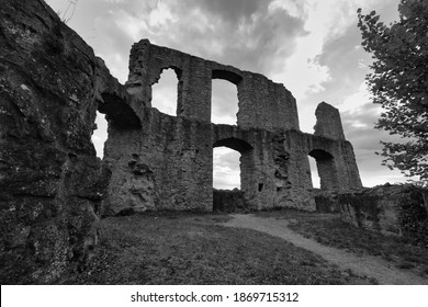 the ruin from the castle in Frankenstein in 1135