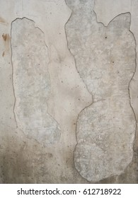 Ruin of cement wall as texture. Background, Pattern.