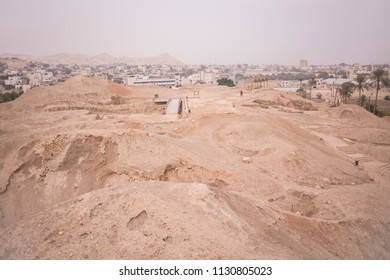 The ruin of city wall of of historic city Jericho, which could be the oldest city of the World.