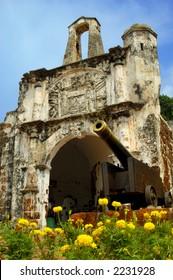Ruin of A Famosa in Malacca, Malaysia