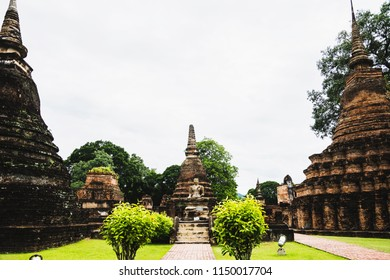 Ruin of Historical park, world heritage of Thailand