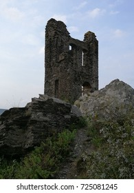 ruin of a medieval castle tower