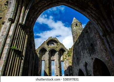 Ruin of Monastery at Rock of Cashel in Ireland