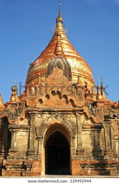 Ruin of the old Dhammayazika Pagoda, Bagan, Myanmar