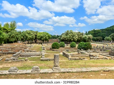 Ruin of Olympia; the birth place of Olympic games in Katakolon, Greece.