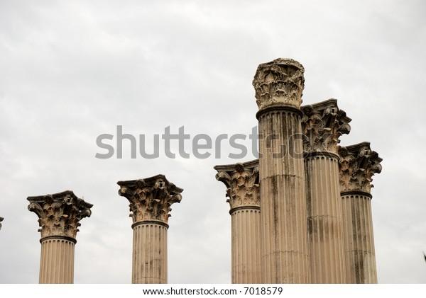 Ruin of the Roman temple in Cordoba, Spain