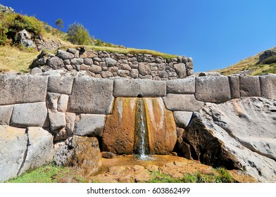 Ruin Spring in Tambomachay or Tampumachay, archaeological site associated with the inca empire, located near Cusco in Peru.