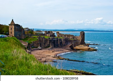Ruin of St Andrews Cathedral in St Andrews, Scotland