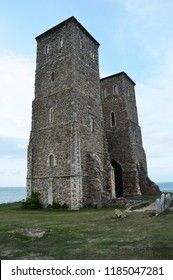 ruined abbey on cliff