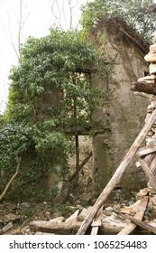 ruined anciend village