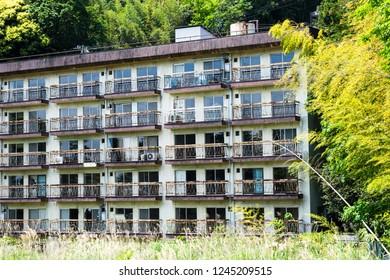 Ruined apartment complex