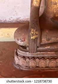 Ruined bhudda statues in Wat Si Saket Laos