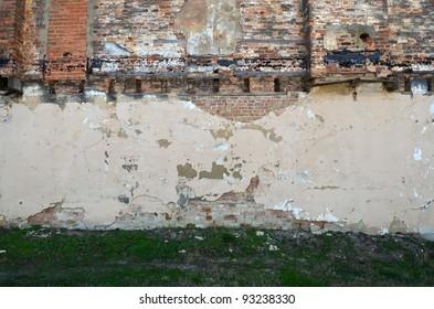Ruined brick wall