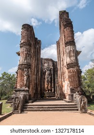 ruined buddha temple at Polonnaruwa, Shri Lanka.