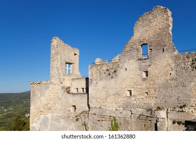 Ruined Castle of Lacoste in the Luberon, Provence, France.