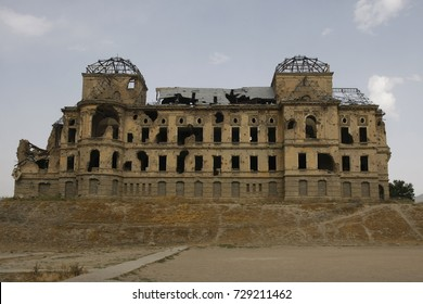 Ruined Darul Aman palace in Kabul