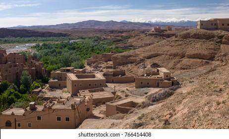 An ruined kasbah in Kalaat M'Gouna, Morocco