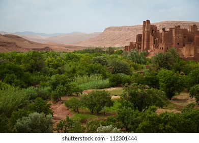 The ruined Kasbah Tamdaght in central Morocco