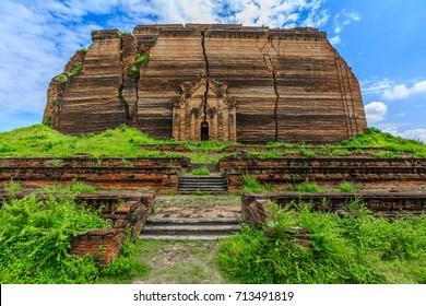 Ruined Mingun pagoda Unfinished pagoda in Mingun paya Temple, Mandalay, Myanmar.