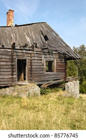 Ruined Mountain Hut in Little Pieniny, autumn 2011, Poland