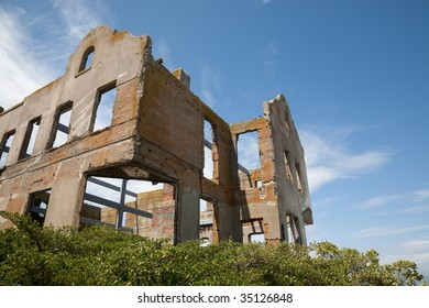 Ruined old building on hill top