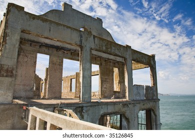 Ruined old building overlooking the sea