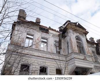 Ruined old building in Russia