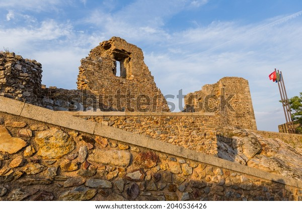 the ruined Palace of Christopher Moura (Cristovao de Moura) in the historic village of Castelo Rodrigo, Portugal