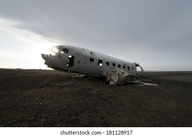 A ruined plane in Iceland