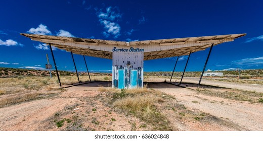 "The ruined remains of a gas station near Utah Colorado border - ""Service Station"" - Midcentury Architecture"