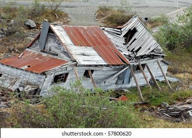 Ruined Shack at Independence Gold Mine, Alaska