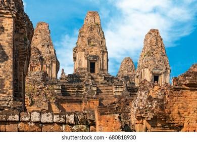 Ruined temple in Angkor, Cambodia