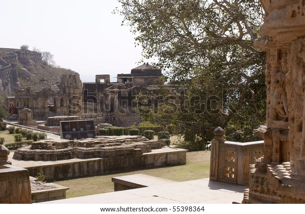 ruined temple complex in Fort Chittorgarh