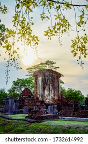Ruined Walking Buddha image at Wat Chetuphon Sukhothai Thailand