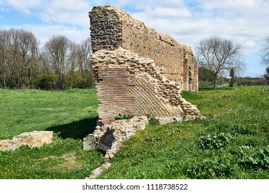 Ruined wall on the Via Appia in Rome