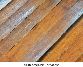 Ruined wooden floor
