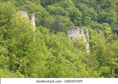 Ruines of old town Samobor near Zagreb, Capital of Croatia
