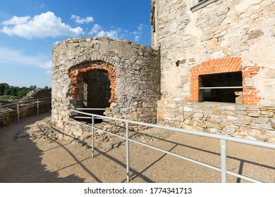 Ruins of 17th century castle  Krzyztopor, italian style palazzo in fortezza, Ujazd, Poland.  It was built by a Polish nobleman and Voivode of Sandomierz, Krzysztof Ossolinski