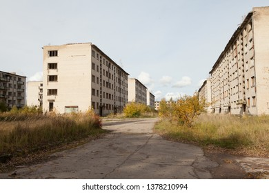 ruins of abandoned Soviet military base, Sekunda, Latvia.