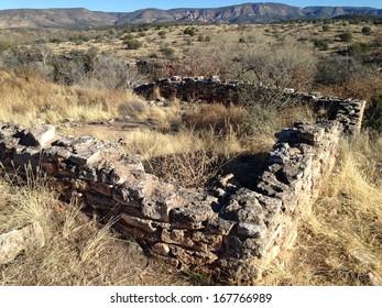 Ruins above Montezuma Well in Montezuma Castle National Monument in Arizona