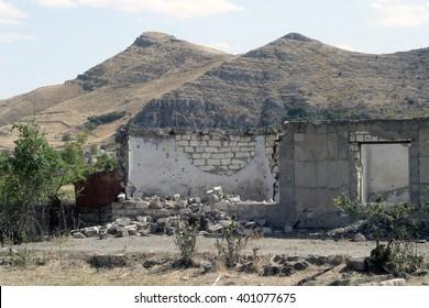 Ruins of Agdam,Nagorno-Karabakh.
