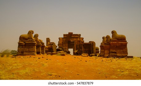Ruins of Amun temple Naqa Meroe, ancient Kush, Sudan