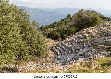 Ruins of the ancient Amos city near Marmaris, Turkey