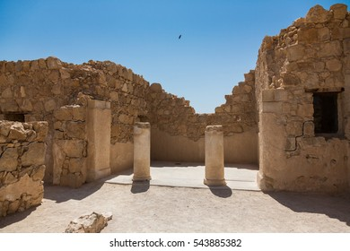 Ruins of ancient architecture in Masada National Park in Israel, a World Heritage Site as declared by UNESCO