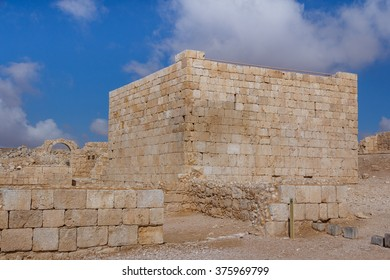 Ruins of the ancient Avdat settlement, Negev, Israel