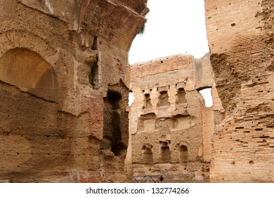 The ruins of ancient baths, built by the Roman emperor Caracalla