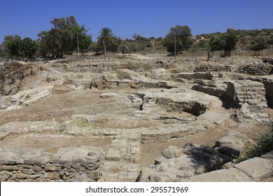 Ruins of Ancient and Biblical City of Ashkelon in Israel, Holy Land