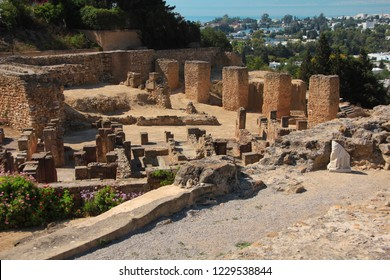 Ruins of ancient Carthage in Tunisia. Carthage is a major urban centre that has existed for nearly 3,000 years on the Gulf of Tunis, developing from a Phoenician colony of the first millennium BC