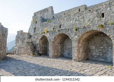 The ruins of the ancient castle Arechi in Salerno, on the Amalfi Coast, Italy