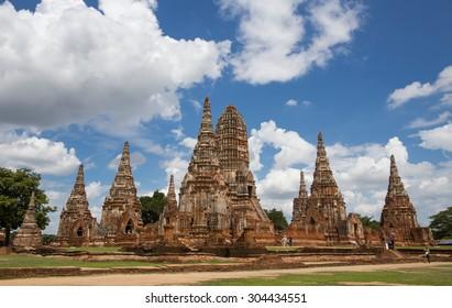 Ruins of ancient Chaiwattanaram temple in Ayuttaya, Thailand
